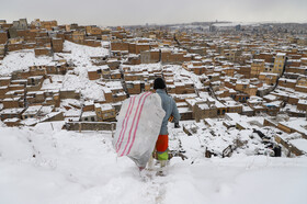 Tabriz is covered with snow at the beginning of winter, Iran, December 24, 2020.