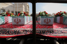 The funeral of anonymous Iranian soldiers, martyred during Iraq's imposed war against Iran in the 1980s, is held in Tabriz, Iran, January 14, 2021.