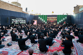 People attend a mourning ceremony during Muharram Month in Zanajan, Iran, August 31, 2020.